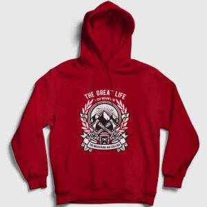 High Mountain Kapşonlu Sweatshirt kırmızı