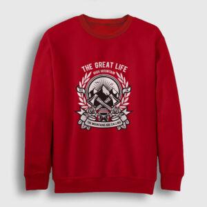 High Mountain Sweatshirt kırmızı