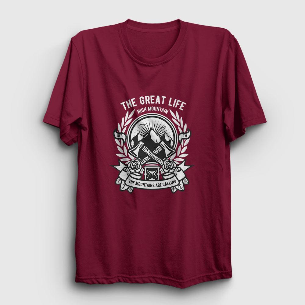 high mountain tişört bordo