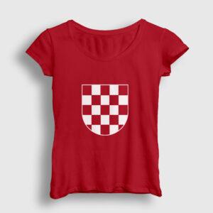 Hırvatistan Kadın Tişört kırmızı