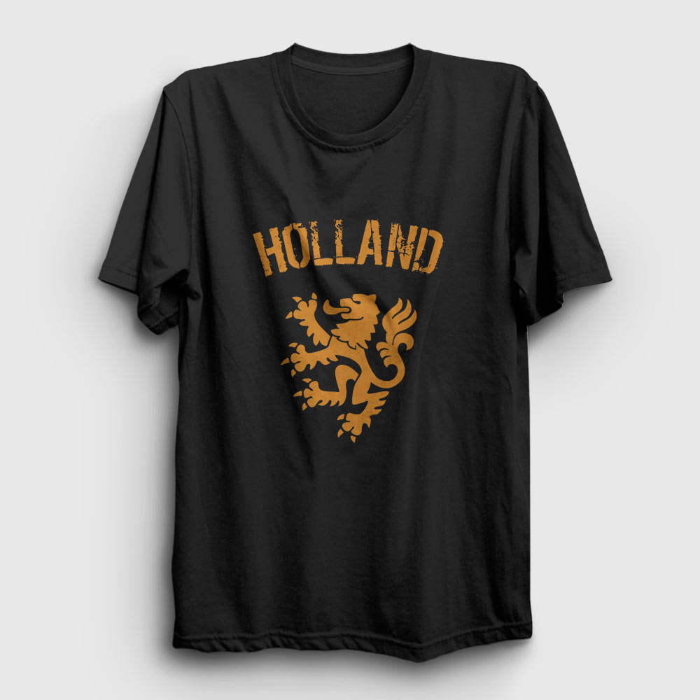 hollanda tişört siyah