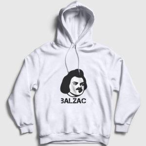 Honore De Balzac Kapşonlu Sweatshirt beyaz