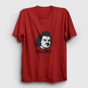 Honore De Balzac Tişört kırmızı