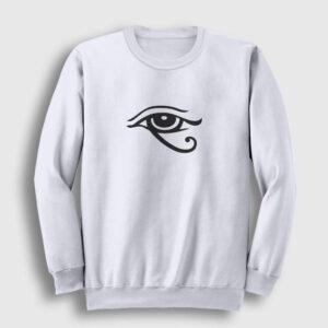 Horusun Gözü Sweatshirt beyaz