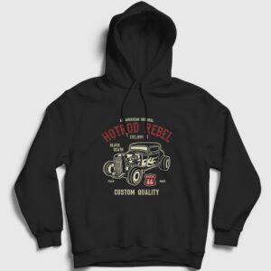 Hotrod Rebel Kapşonlu Sweatshirt siyah