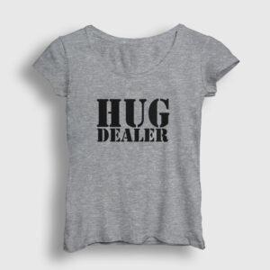 Hug Dealer Kadın Tişört gri kırçıllı