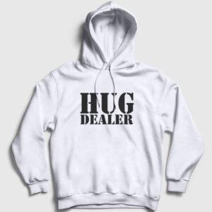 Hug Dealer Kapşonlu Sweatshirt beyaz