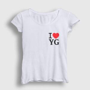 I Love Yozgat Kadın Tişört beyaz
