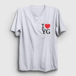 I Love Yozgat Tişört beyaz