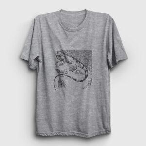 İguana Tişört gri kırçıllı