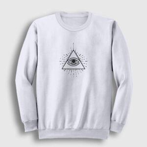 illuminati Sweatshirt beyaz