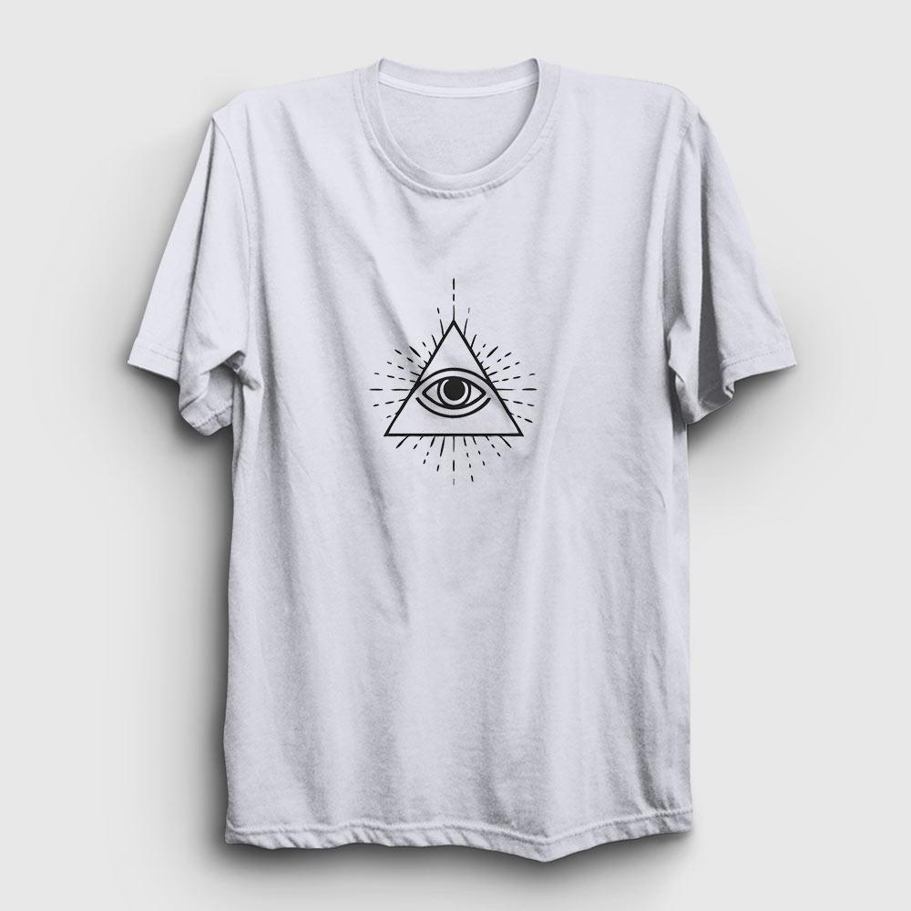 illuminati tişört beyaz