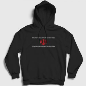 Iran Kapşonlu Sweatshirt siyah