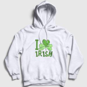 Irlanda Kapşonlu Sweatshirt beyaz