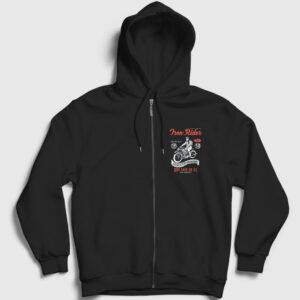 Iron Rider Fermuarlı Kapşonlu Sweatshirt siyah