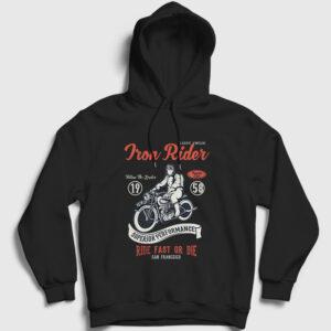 Iron Rider Kapşonlu Sweatshirt siyah