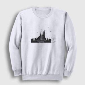 İskele Sweatshirt beyaz