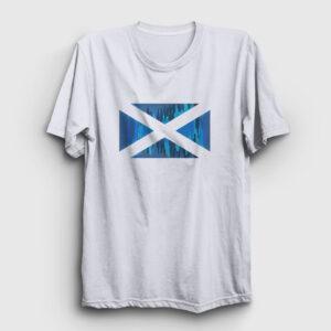 İskoçya Tişört beyaz
