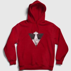 istila Kapşonlu Sweatshirt kırmızı