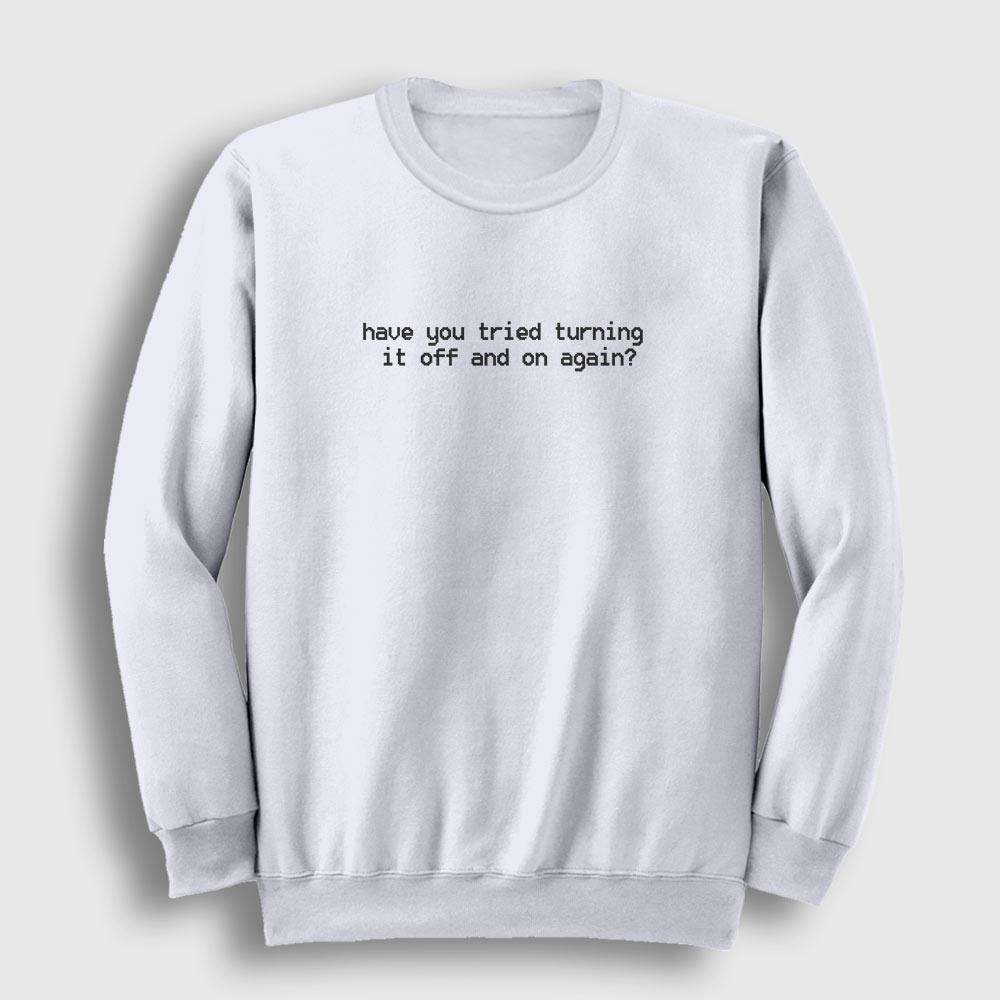 IT Sweatshirt beyaz