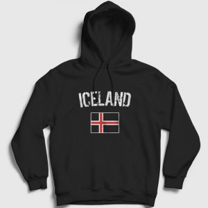 İzlanda Kapşonlu Sweatshirt siyah