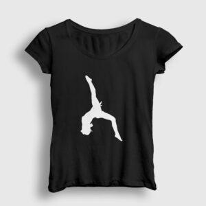 Jimnastik Kadın Tişört siyah