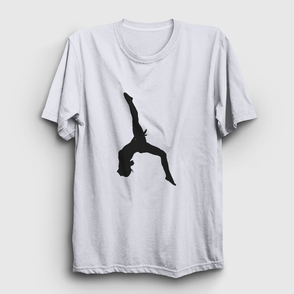 jimnastik tişört beyaz