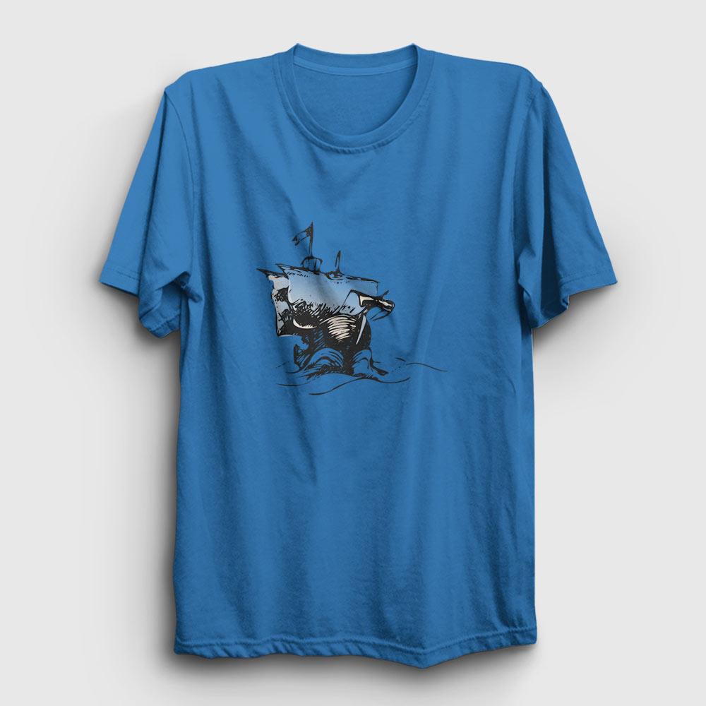 journey tişört açık mavi