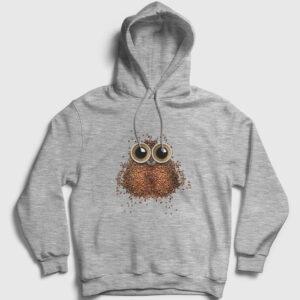 Kahve Baykuş Kapşonlu Sweatshirt gri kırçıllı