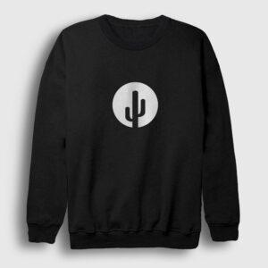 Kaktüs Sweatshirt siyah
