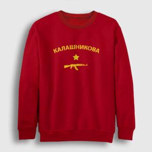 Kalaşnikof Sweatshirt kırmızı