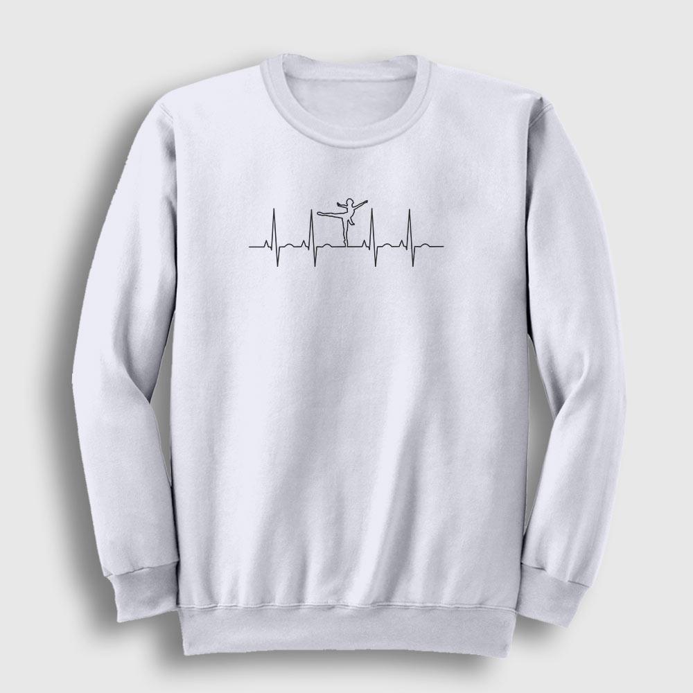 Kalp Ritmi Balerin Sweatshirt beyaz