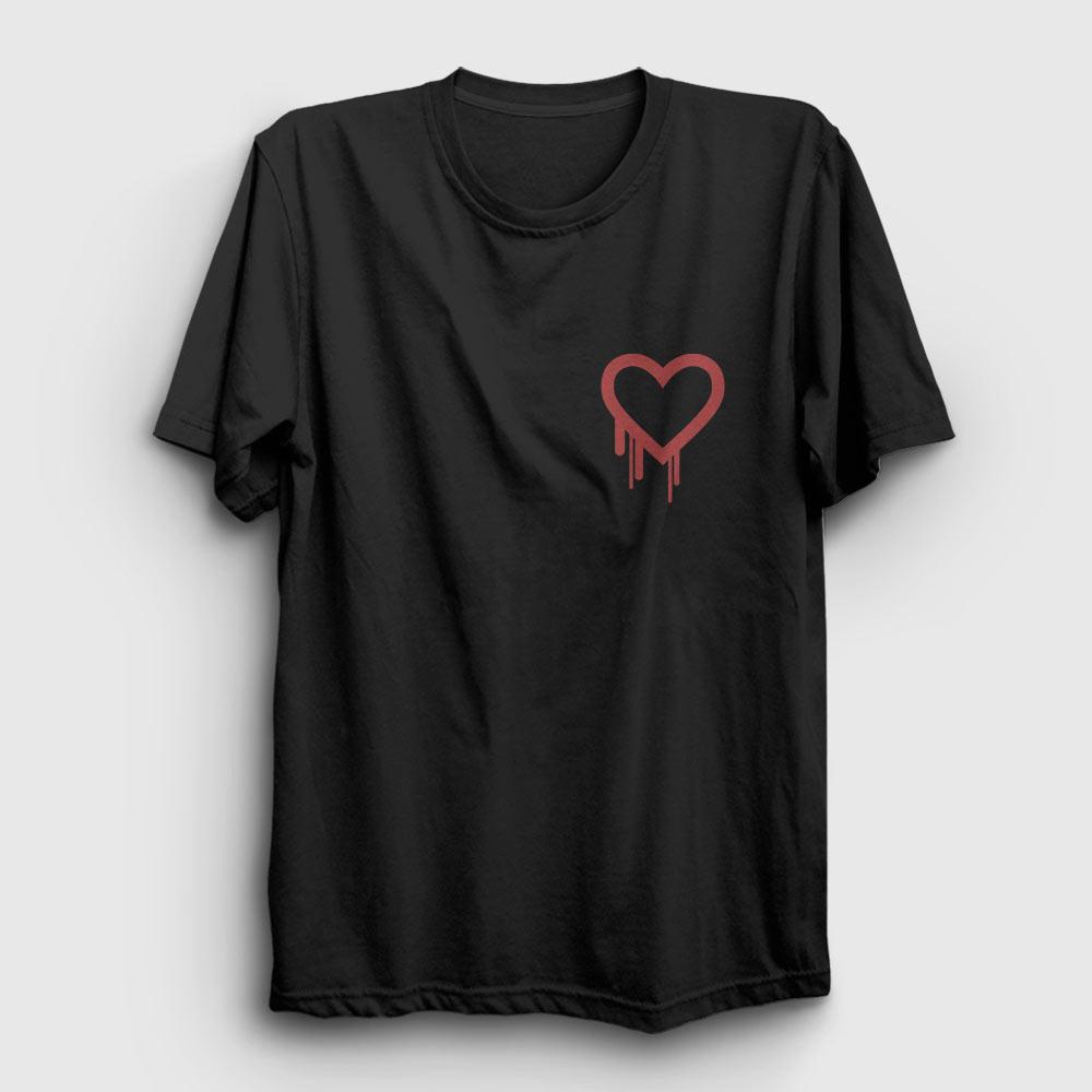 kalp tişört karşılıksız aşk siyah