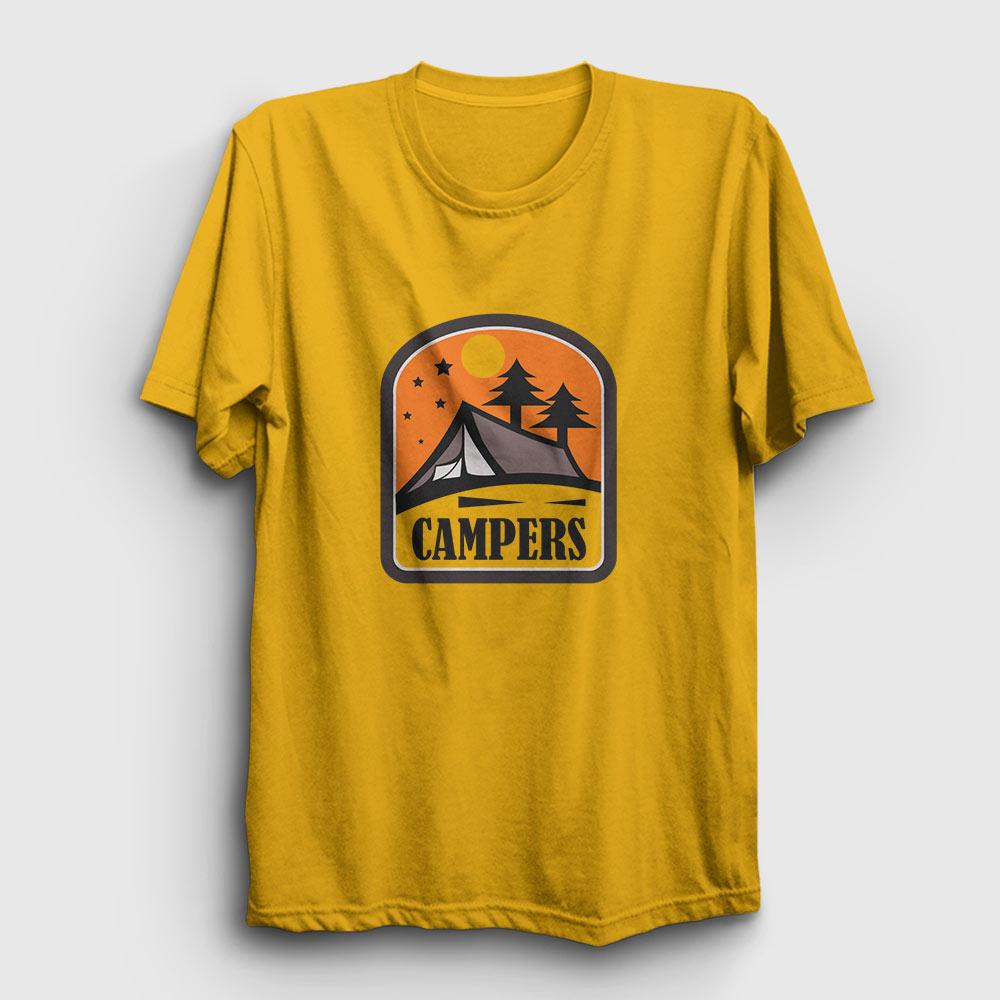kampçı tişört - campers sarı