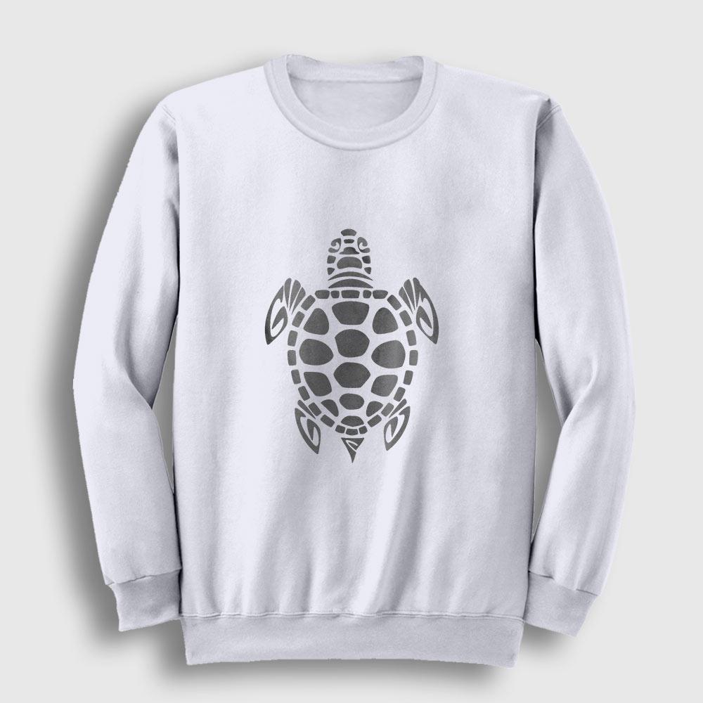 Kaplumbağa Sweatshirt beyaz