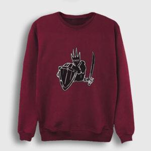 Kara Şövalye Sweatshirt bordo