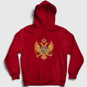 Karadağ Kapşonlu Sweatshirt kırmızı