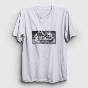 Karakalem Kurukafa Tişört beyaz
