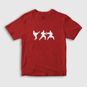 Karate Çocuk Tişört kırmızı