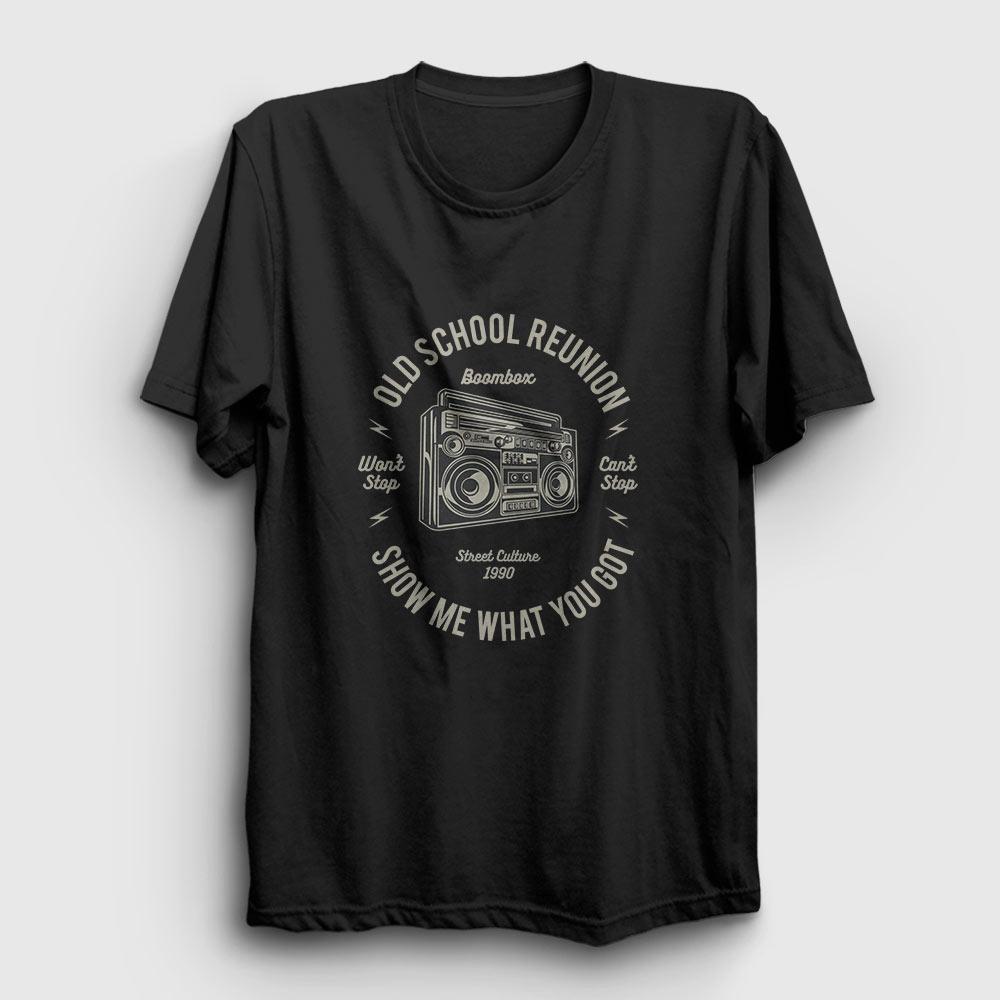 kaset çalar tişört siyah