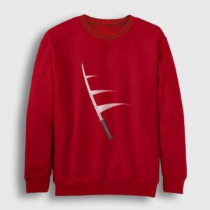 Katana Sweatshirt kırmızı