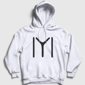 Kayı Boyu Kapşonlu Sweatshirt beyaz