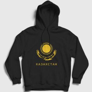 Kazakistan Kapşonlu Sweatshirt siyah