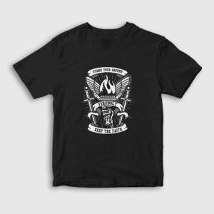 Keep The Faith Çocuk Tişört siyah