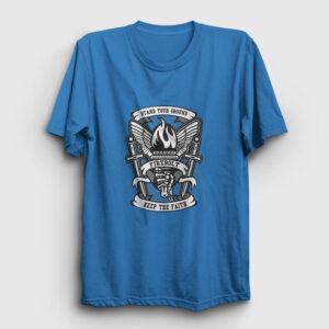 Keep The Faith Tişört açık mavi
