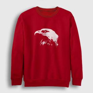 Kel Kartal Sweatshirt kırmızı