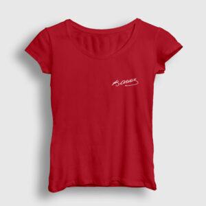 Kemal Atatürk İmzası Kadın Tişört kırmızı