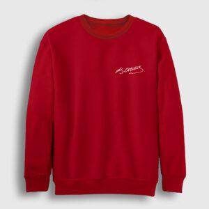 Kemal Atatürk İmzası Sweatshirt kırmızı