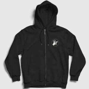 Key Of Life Fermuarlı Kapşonlu Sweatshirt siyah