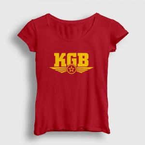 KGB Kadın Tişört kırmızı
